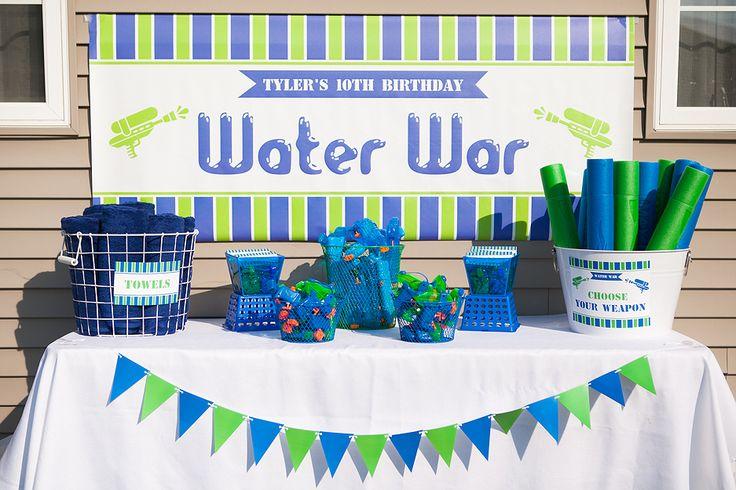 Cute- Water war Party-  The Homespun Hostess