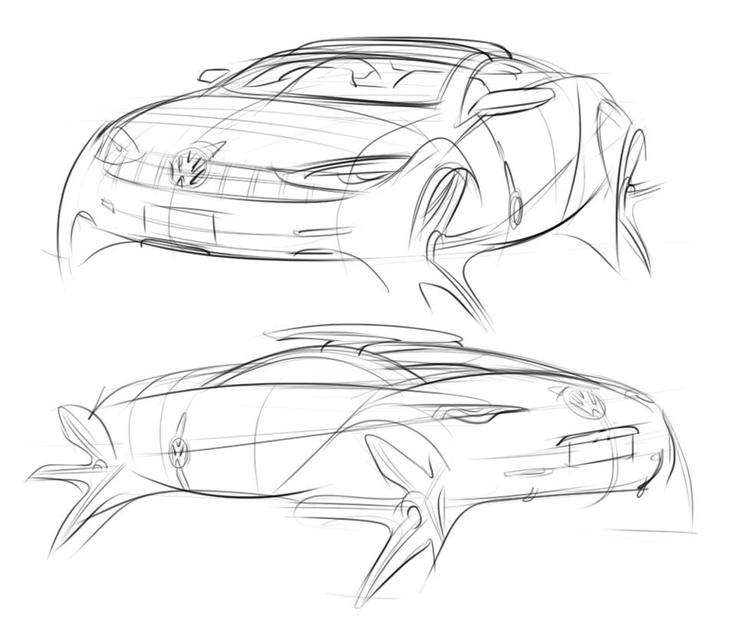 VW - nice artsy line sketch