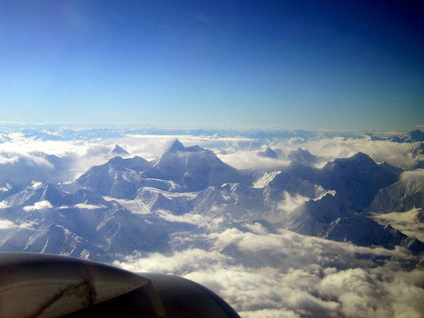 Interesting Facts About Pakistan: Mountains from Plane