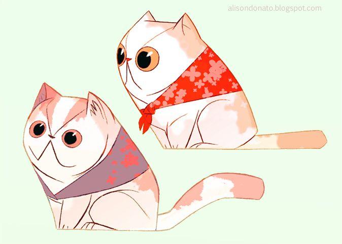 Smoosh-Face Cats by ~lemurali on deviantART