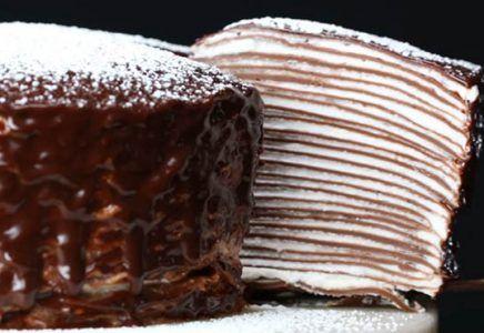 Recept na vynikajúcu tortu z čokoládových palaciniek, po ktorej sa oblíže celá rodina