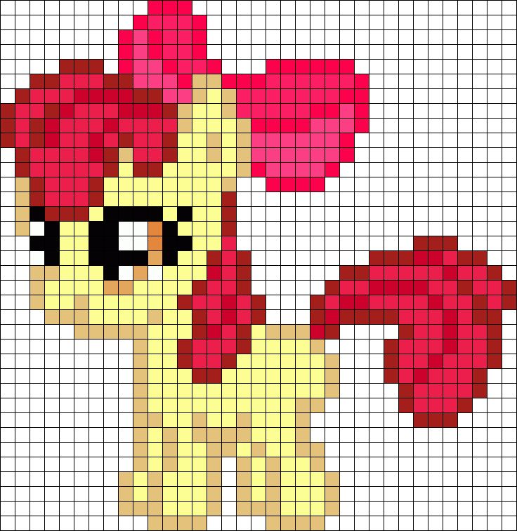 Applebloom My Little Pony Perler Bead Pattern / Bead Sprite