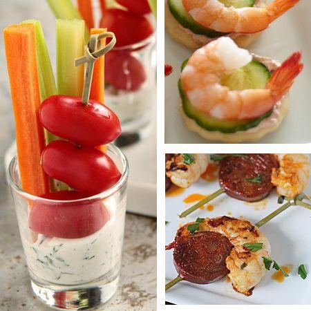 Me encanta la idea de los vasitos con salsa y verduritas!!