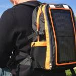 """10.17,13 - Cutting Edge Portable Solar Power Module Fits On A Backpack -  The $99 """"Packr comes with a 3-watt solar panel made with Ascent's proprietary thin film technology, along with a standard USB output, arranged so that you can plug it into your device and draw solar power while you're still walking around."""""""