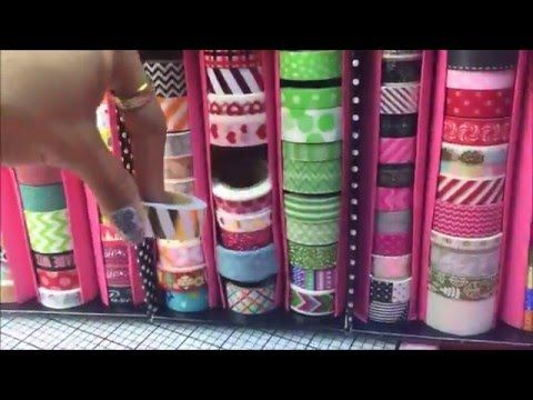 DIY Washi Tape Organization Storage and Display: Free: Repurposed: Upcycled Products