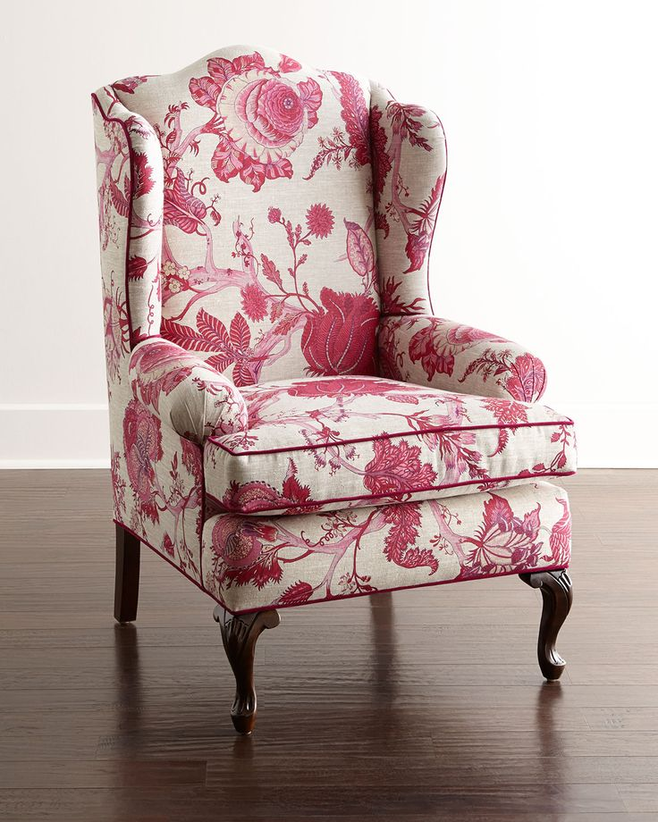 """Horchow """"dining chair"""" that might be nice bath-side as well! Priscilla Wing Chair by Haute House"""