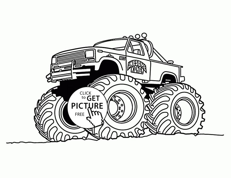 86 best Monster Truck coloring pages images on Pinterest ...