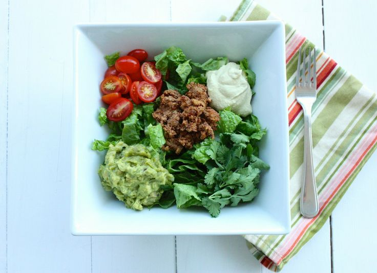 Raw, Vegan Taco Salad