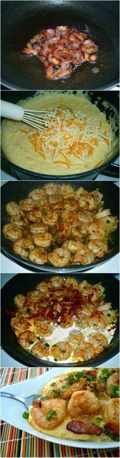 Cheesy Shrimp and Gr