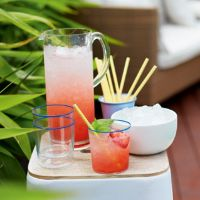 Strawberry and lychee punch