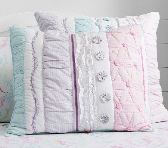 Bailey Ruffle Quilted Bedding | Pottery Barn Kids - std sham