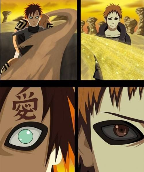 Garra and his father~Or just Gaara, because Gaara is awesome