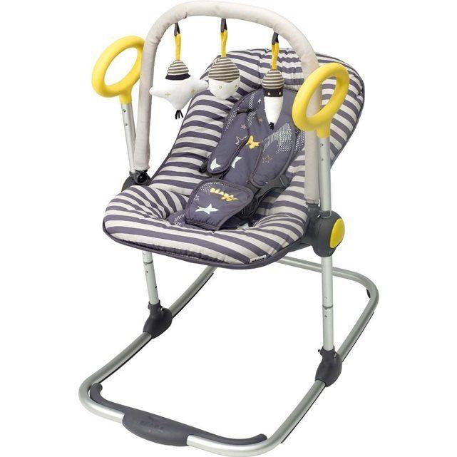 Utilisable de 0 à 6 mois (maximum 9 kg)Le   transat Up & Down est le nec plus ultra du transat pour bébé :   basculant, réglable en hauteur, d'un design ergonomique et très sympa...   un concept innovant et ingénieux pour un confort inégalé !Ses atouts :- Dossier réglable et inclinable d'une seule main (3 positions)- Hauteur réglable sur 4 positions par simples pressions- Ultra confortable : microbilles, rembourrage latéral, housse/cale tête amovible- Bascule avec système de blocage…