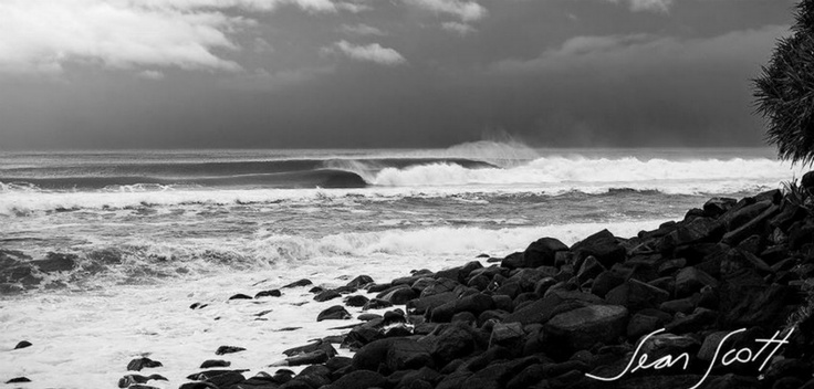 Burleigh Point absolutely cookin' with no one out. Photo by Sean Scott.
