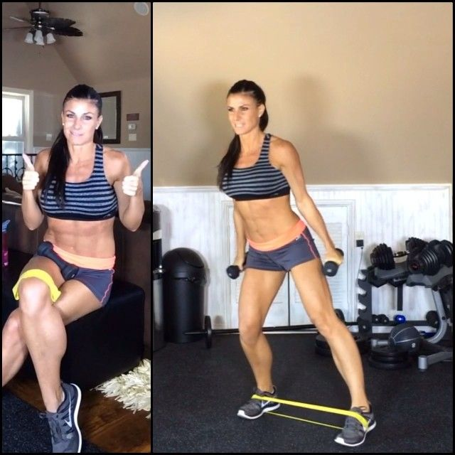Fast twitch fibers are important to train, especially if you love sports!⚽️⚾️ When we weight train...we are usually just training the slow twitch fiber muscles.  We want to work them ALL!  1⃣ Small squat, tap out w/lateral raise for shoulders 2⃣ Squat in the middle to transition 3⃣ Small squat, tap back w/frontal raise for shoulders 4⃣ Squat in the middle to transition  Keep weights light since you are moving quickly and really tone those legs and shoulders! ☀️ #Padgram