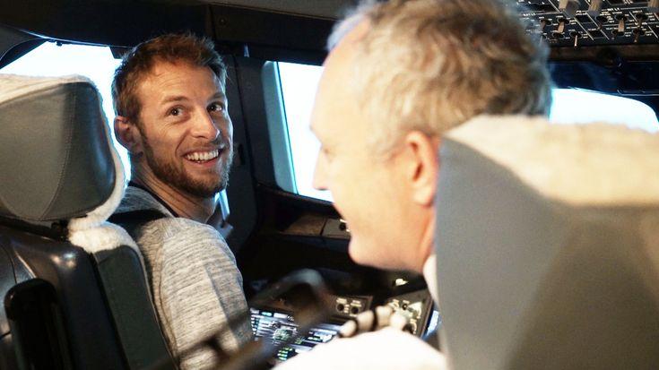 Jenson Button, la manșa unui Airbus A380 British Airways (Video)