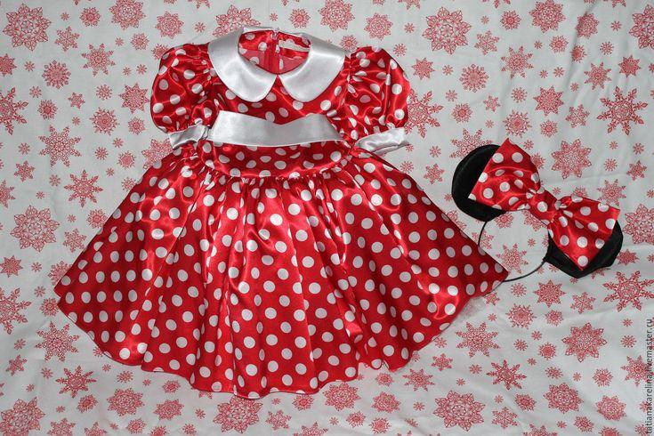 Купить Костюм Мини Маус для девочки - ярко-красный, в горошек, мини маус, новогодний костюм