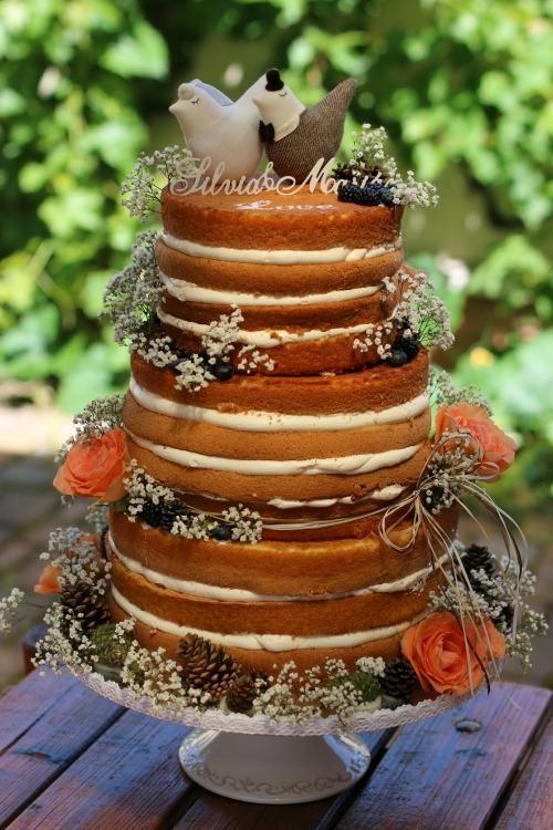 Nahá svadobná torta : , svadobné torty | Tortyodmamy.sk
