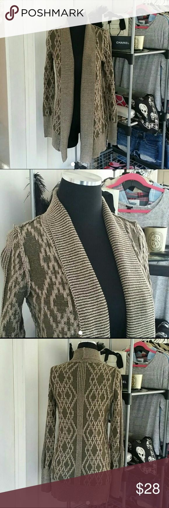 KAISELY ANTHROPOLOGIE CARDIGAN SZ M Kaisely Anthropologie Aztec / Tribal Cardigan Size Medium. Material is 60 % Cotton & 40 % Acrylic. Anthropologie Sweaters Cardigans