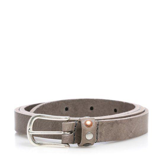 Dames Riem 2cm met Studs Grijs (leer) Mt 85 art. 20660 |Tannery Leather