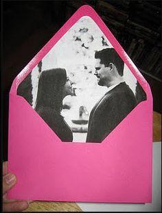 DIY wedding envelopes!