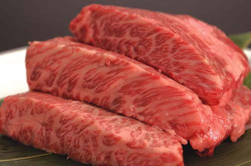 Look at the marbling....wagyu beef