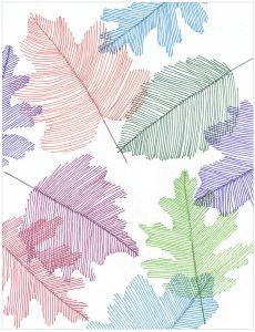 Line art leaves, just with lines, makes for some very pretty transparent art. #fallart #sharpieart
