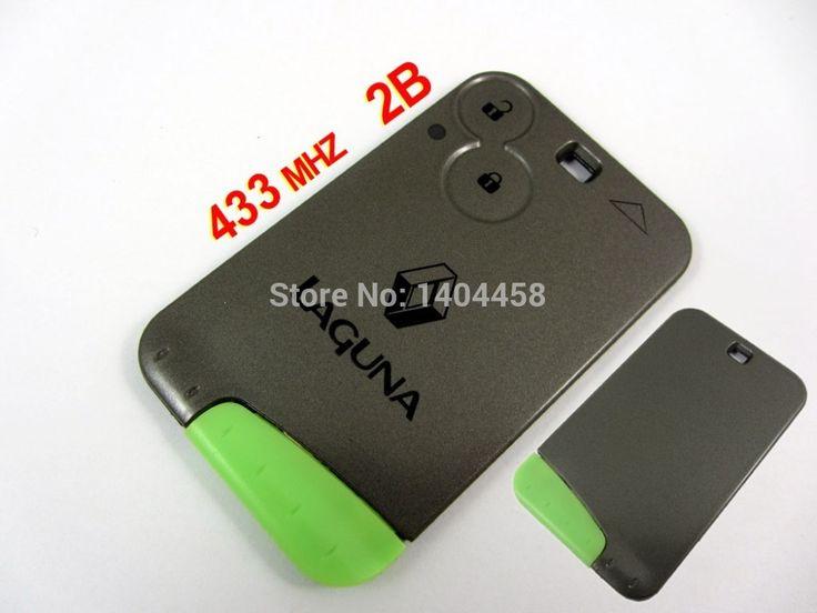 Auto key, Laguna смарт-ключ 2 кнопки 433mhz-с логотип и зеленый смарт-ключ лезвие, бесплатная доставка