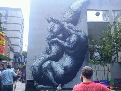 Beautiful Fox Street Art