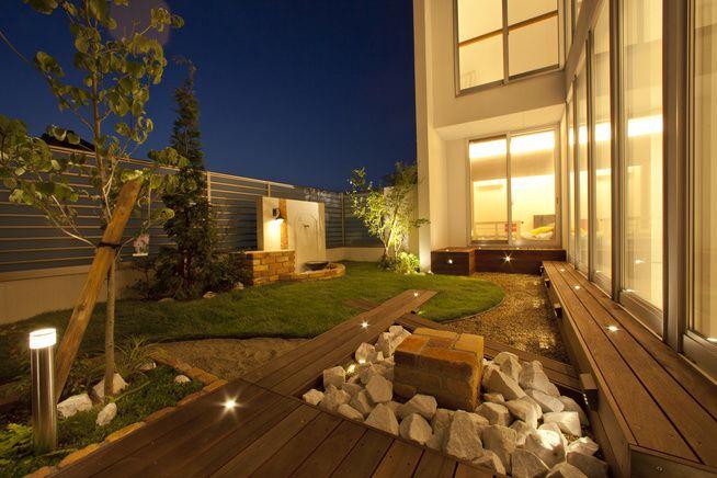 「夜になるのが待ち遠しいウッドデッキとお庭」コーディネートNo.416928