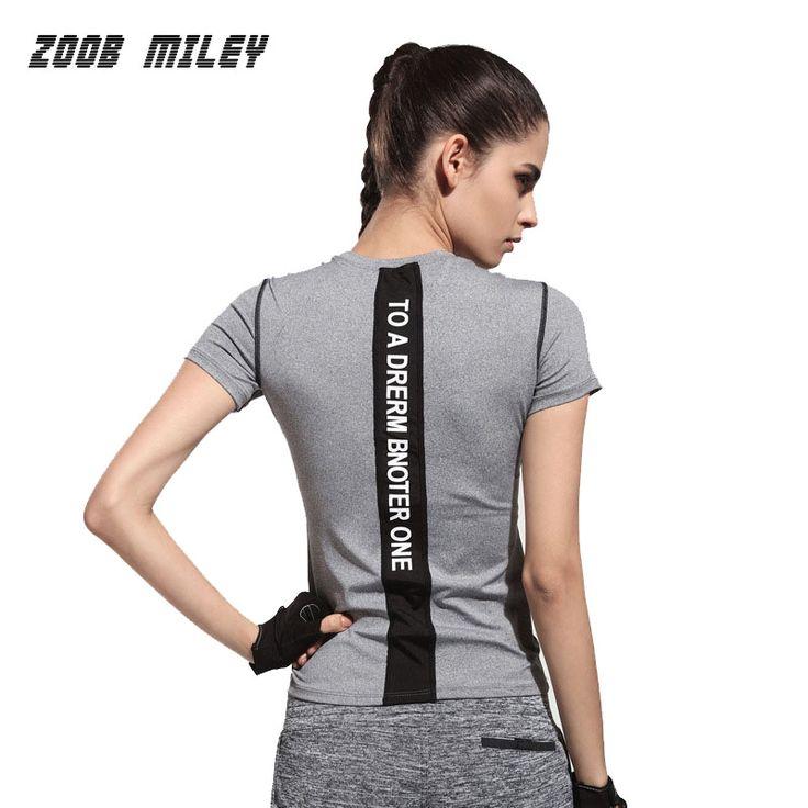 Vrouwen Sport Running Yoga Fitness T-shirts Hoge Elastische Sneldrogende Naadloze Gym Dames Sportkleding Jogging Oefeningen Vrouw Tops(China (Mainland))