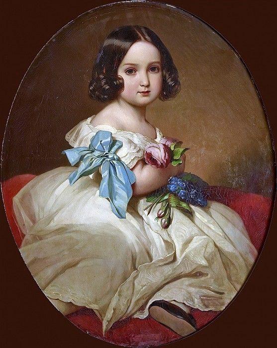 Принцесса Шарлотта Бельгийская, позднее императрица Мексики (1840-1927). Франц Ксавьер Винтерхальтер