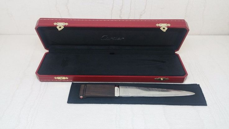 Cartier paperknife Ltd 2000 pieces in steel ebony and coral Ref. T1220196