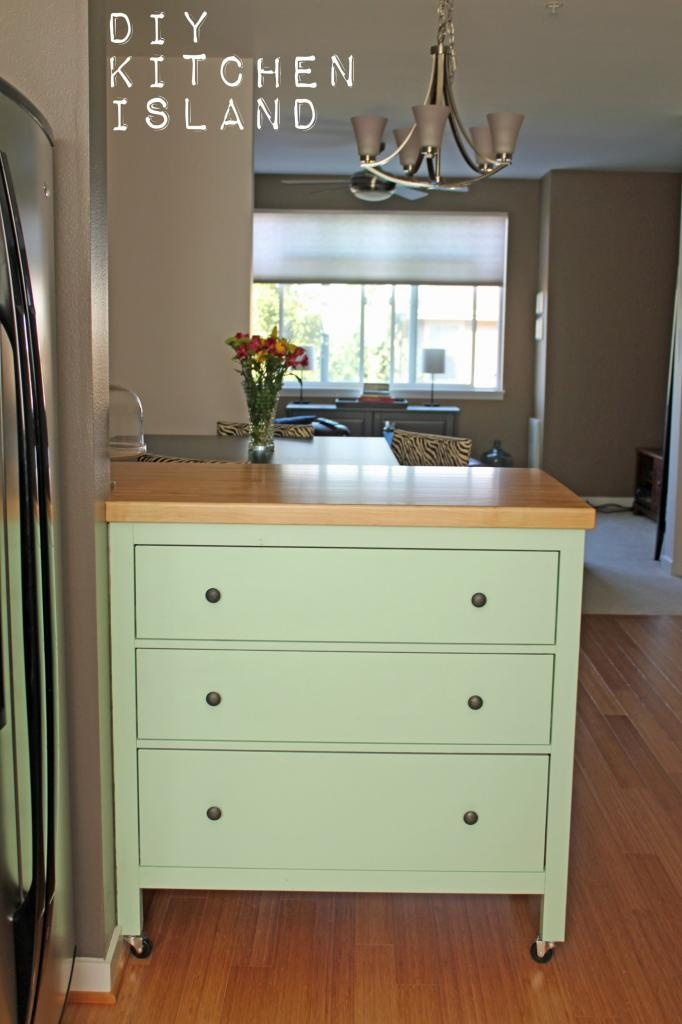 Turn A Dresser Into A Kitchen Island: Ikea Dresser Turned Kitchen Island From Ruffles And Such