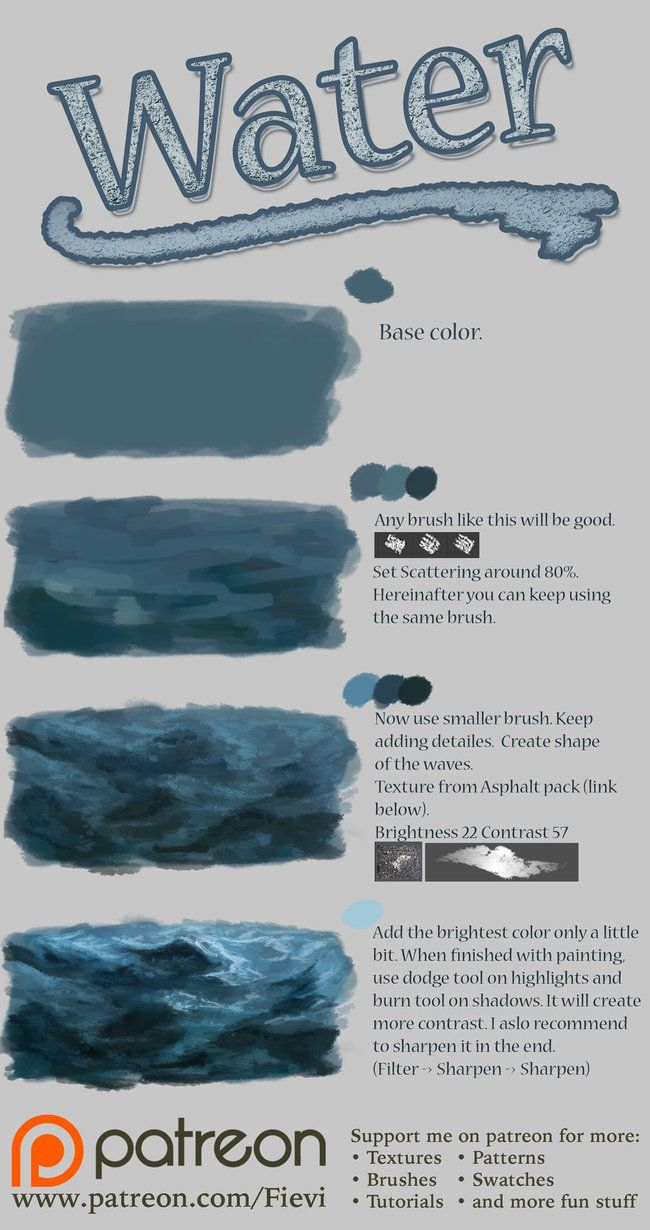 Tutorial - nthartyfievi.deviantart.com/ar… The difference between texture and plain brush. 1. With texture it looks more realistic. 2. With texture you will get satisfying result f...
