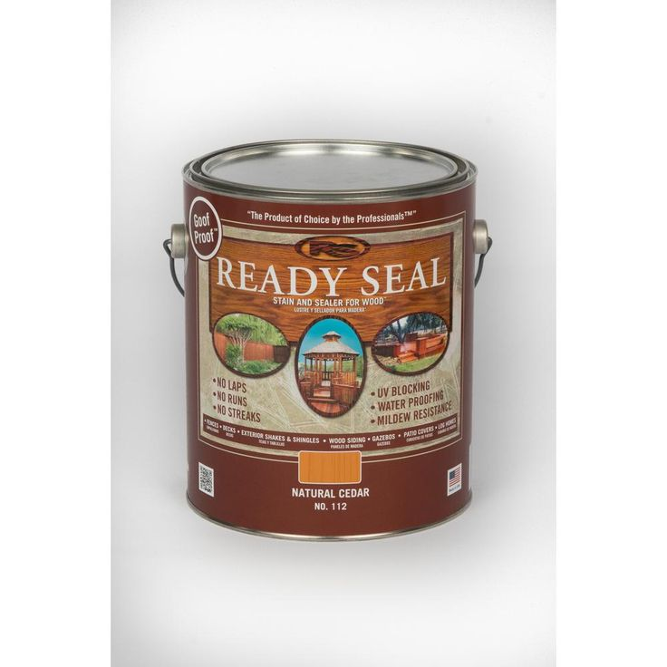 READY SEAL 1 gal. Natural Cedar Exterior Wood Stain and Sealer - 112 - The Home Depot