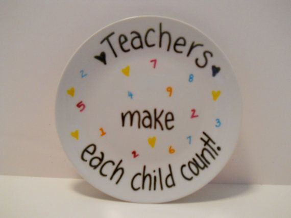 Thank You Teacher Plate by celebratefun on Etsy
