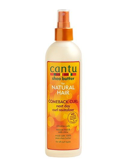 10 Products That Revive Your Second- (and Third-) Day Curls: Cantu Comeback Curl Next Day Curl Revitalizer | Allure.com