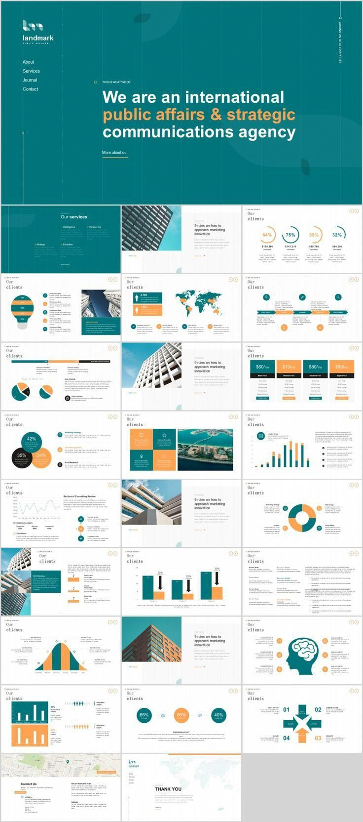 27 company cool introduction chart powerpoint template