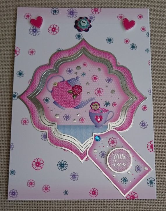 Handmade C5 Greeting Card  With Love by BavsCrafts on Etsy