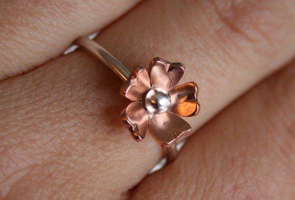 Brass Flower Ring women's