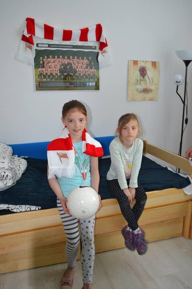 Nikola i Natalia też piłkę nożną lubią, a Natalia dodatkowo gra w siatkówkę :)