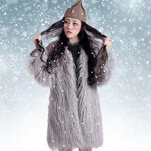 Güz kış faux kürk ceket kadınlar için, gri pembe renk womens yapay kürk mantolar ve ceketler kabanlar kürklü kıyafeti(China (Mainland))