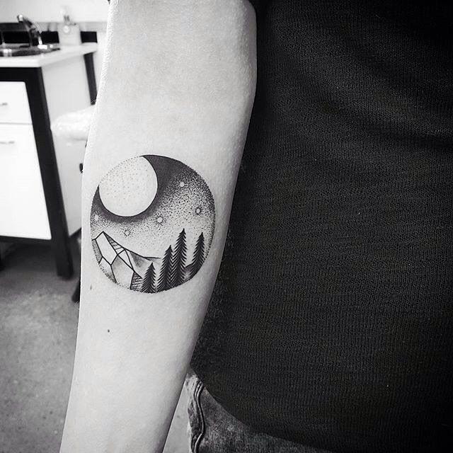 Small landscape tattoos