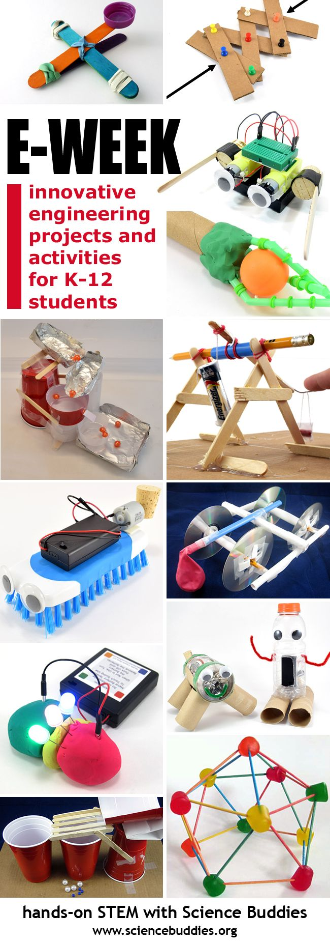Celebrate Engineers Week! Science Buddies has great projects and activities for K-12 students. [Science Buddies, http://www.sciencebuddies.org/blog/2017/02/great-ideas-for-engineers-week-1.php?from=Pinterest] #FluorChallenge #Eweek2017 #eweek #engineering #scienceed #scienceproject