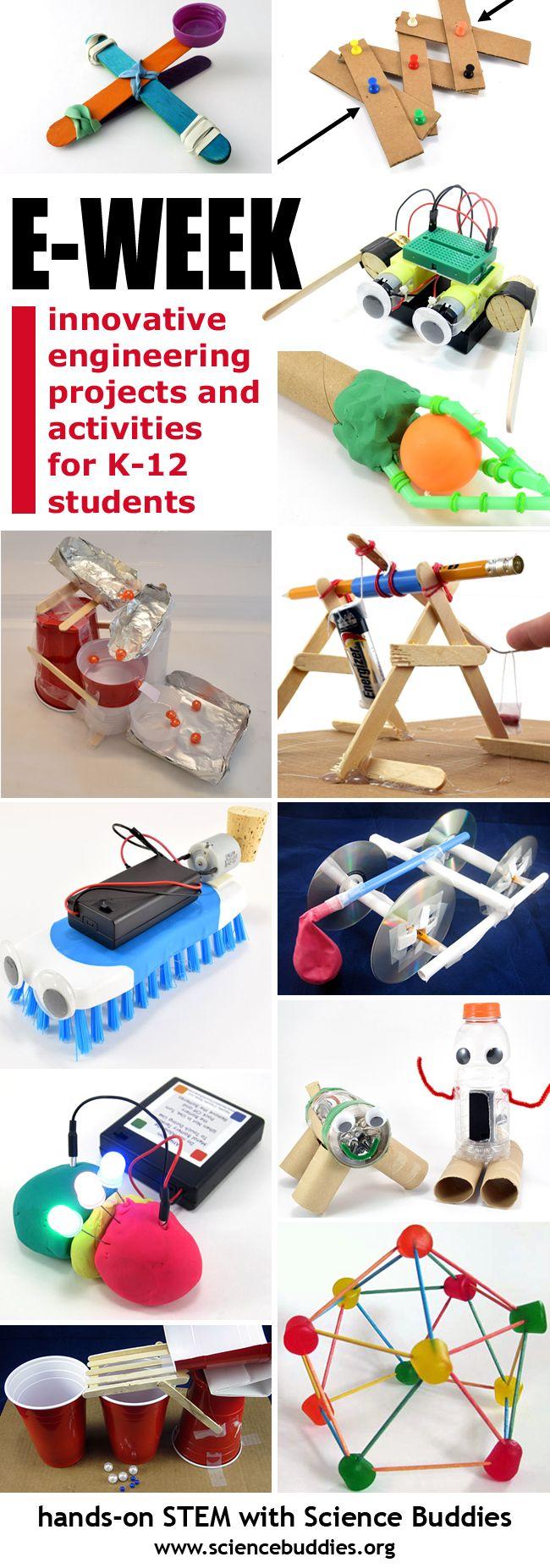 Celebrate Engineers Week! Science Buddies has great projects and activities for K-12 students. [Science Buddies, http://www.sciencebuddies.org/blog/2017/02/great-ideas-for-engineers-week-1.php?from=Pinterest] #FluorChallenge #Eweek2017 #eweek #engineering #scienceed #scienceproject