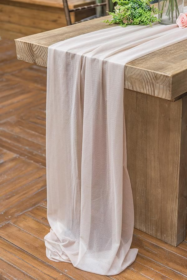 29 X 120 Inch Romantic Sheer Table Runner 7 Colors In 2020 Vintage Wedding Decorations Table Runners Chair Decorations