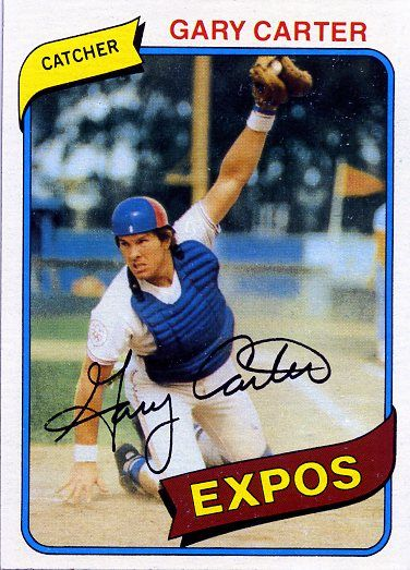 Baseball Hall of Famer, Gary Carter, who died from glioblastoma at the age of 57. Carter, a catcher, had his greatest success as a member of the Montreal Expos and the New York Mets. Before his death he was the coach of the Palm Beach Atlantic University Sailfish. (Image of Carter's 1980 baseball card is copyright Topps, Inc.)