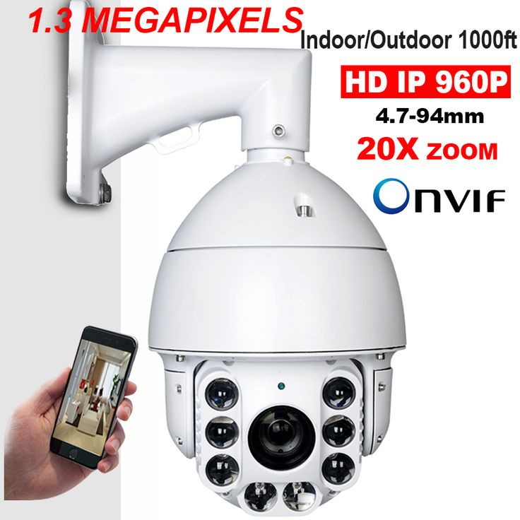 IP66 Security CCTV 960P 1.3MP HD IP High Speed Dome Surveillance PTZ Camera 20X ZOOM IR200M Auto Focus 360 Degree View Pan/Tilt *** Shop now for Xmas. Locate this beautiful piece simply by clicking the image. #xmasgifts