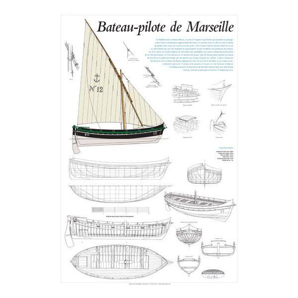 Plan de modélisme, bateau-pilote de Marseille